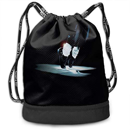 Cele-brity Mic-ha-el Ja-cks-on Drawstring Bags Multifunction Bundle Backpack Large Capacity Lightweight Simple Portable Funny Handbag,For Women Kids School Gym Travel (Polyester)