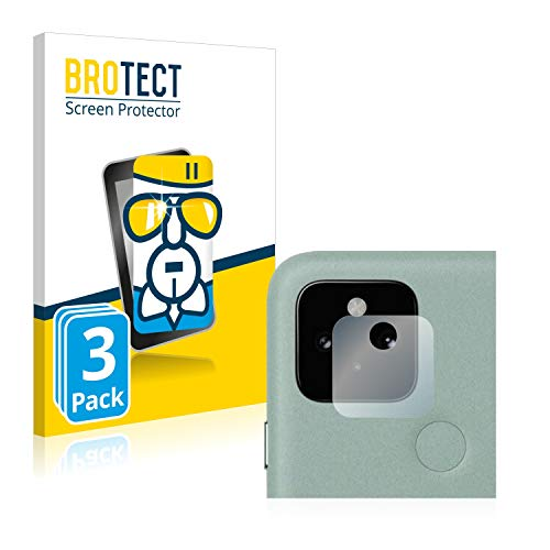 BROTECT Panzerglas Schutzfolie kompatibel mit Google Pixel 5 (Kamera) (3 Stück) - AirGlass, extrem Kratzfest, Anti-Fingerprint, Ultra-transparent