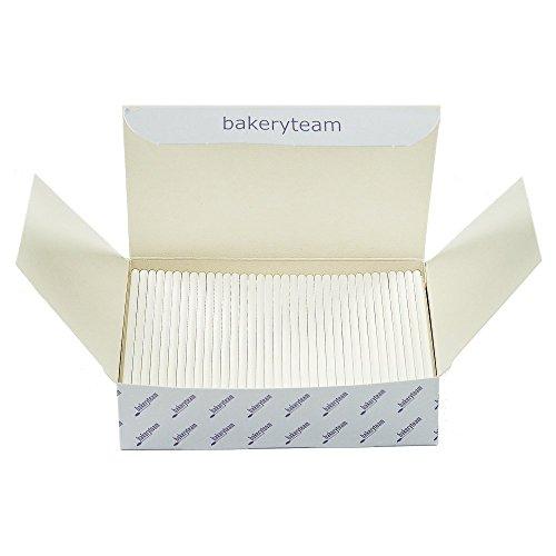 Bastoncini per cake pop, 350pezzi, colore: bianco