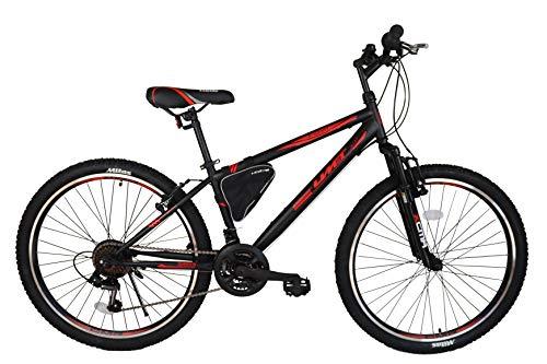 """Ümit Bicicleta 24"""" XR-240, Juventud Unisex, Negro/Rojo, Mediano"""