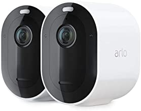 Arlo Pro3 Smart Home Security CCTV Camera System | Wireless Wi-Fi, Alarm, Rechargeable, Colour Night Vision, Indoor or Out...