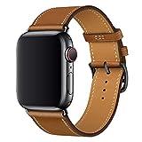 XCool pour Bracelet Apple Watch 38mm 40mm, Cuir Rose Rouge Double Tour Bande de Remplacement pour...