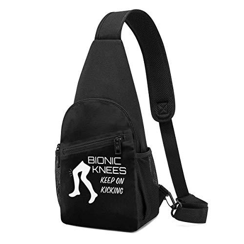 DJNGN Mochila Bionic Knees Keep On Kicking Chest Pack Mochila ultraligera