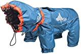 DOGHELIOS 'Weather-King' Windproof Waterproof and Insulated Adjustable Full Bodied Pet Dog Jacket Coat w/ Heat Retention Technology, Large, Blue