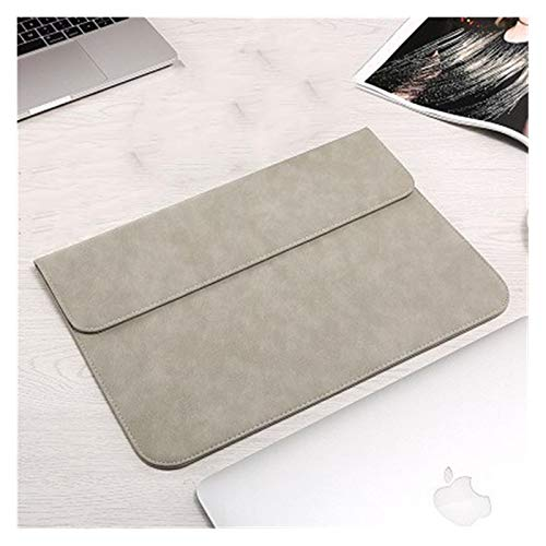 New Luxury Laptop Sleeve Bag for Macbook Air 13 Touch ID 2018 Pro 13 11 12 15 Bags Case for Xiaomi 13.3 15.6 Notebook Cover (Color : Gray, Size : 2019 New Pro 15 inch)