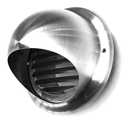 Acero Inox Rejillas Ventilación Rejilla Protectora Inclemencias Tiempo Campana Extractora Campana de Aire - Acero Inoxidable, Ø 150MM