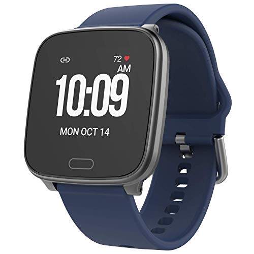 iConnect By Timex Aktive Smartwatch mit Herzfrequenz, Benachrichtigungen und Aktivitäts-Tracking. Blau/Gunmetal