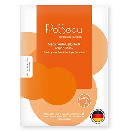 PoBeau Anti-Cellulite Hydrogel Po-Maske | 12 ml | mit Koffein und Carnitin. Straffungseffekt mit innovativem, fettlösendem Wirkstoff aus Senfsprossen und Carnitin