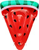 Greenco Giant Inflatable Watermelon Slice Pool Lounger with Connectors and Cup Holder 6 x 5 Feet