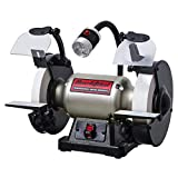 BUCKTOOL Professional Power Tools 8-Inch Low Speed Anti-Vibration Perfect Sharpening Function Bench Grinder TDS-200C4HL