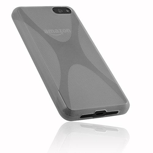 mumbi Hülle kompatibel mit Amazon Fire Phone Handy Hülle Handyhülle, transparent Weiss