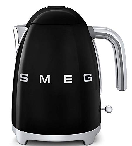 Smeg Elektrischer Wasserkocher KLF03BLEU, Edelstahl, 1.7 liters, Schwarz