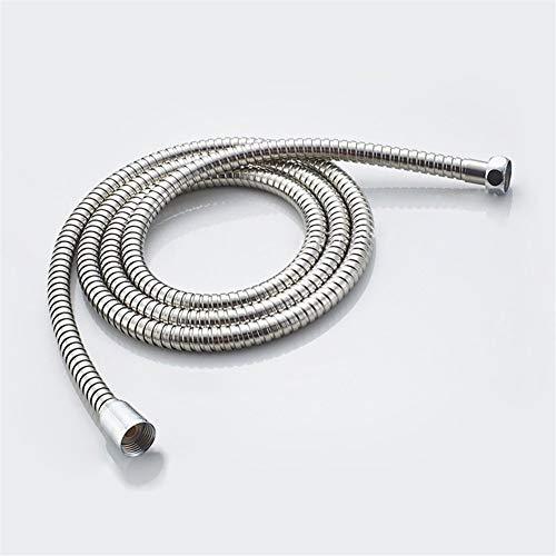 Acero inoxidable de 1,2 m 1,5 m 2 m de manguera de ducha suave tubo de la ducha de baño del tubo de agua de plata comunes Mangueras de fontanería Flexo Ducha (Size : 150cm)