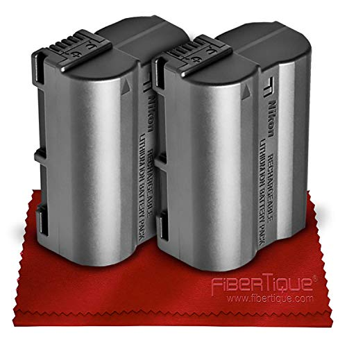 Nikon EN-EL15B Rechargeable Lithium-Ion Battery (Compatible W/Nikon D750, D7000, D7100, D7200, D7500, D800, D800E, D810, D810A, D850, D610, D500 & D500) + Fibertique Cleaning Cloth