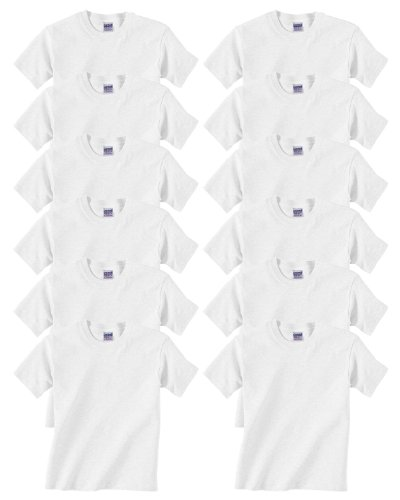 Gildan Youth Heavy Cotton T-Shirt, White, X-Large ( Pack12 )