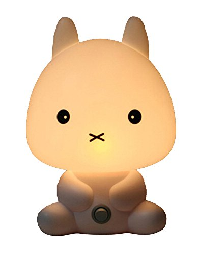 Cadillaps Nachttischlampe, für Kinder, LED, Tischdekoration, EU-genormt, Kunststoff, weiß, Lapin