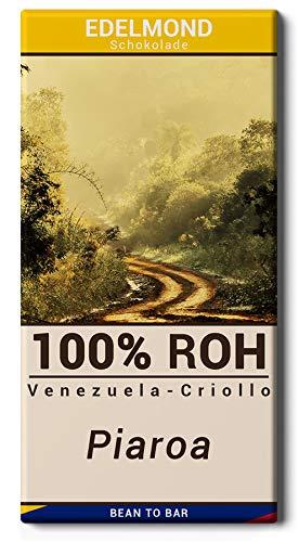Edelmond 100% Criollo Piaroa - Langzeitgeführte Roh-Schokolade - Single Origin Kakaobohnen aus Venezuela - sehr bitter - 70g