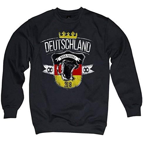 NG articlezz – Deutschland Fussball 2018 – Bier und Fussball WM Pullover Sweater Oldschool Gr. S-3XL