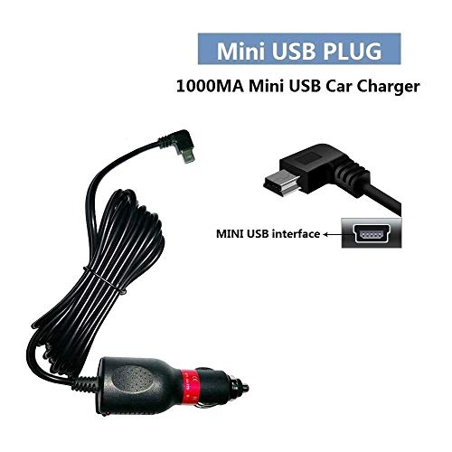 HKXLT- 1000MA Mini USB Car Charger,for Dash Cam/GPS Navigator - 1.0A Vehicle Power Supply Adapter Suitable for Car Truck from 12V-24V (J55)