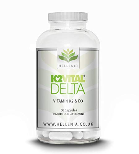 Vitamin K2 Vital Delta & Vitamin D3 Vegan - 60 Capsules - Support Bones, Blood clotting, and a Healthy Immune System.