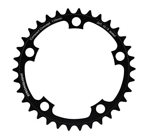 Stronglight - Plato para cadena de bicicleta de aluminio, rueda dentada de 5 agujeros Talla:48
