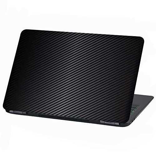 Laptop Folie Cover Abstrakt Klebefolie Notebook Aufkleber Schutzhülle selbstklebend Vinyl Skin Sticker (13-14 Zoll, LP25 Carbon Schwarz)