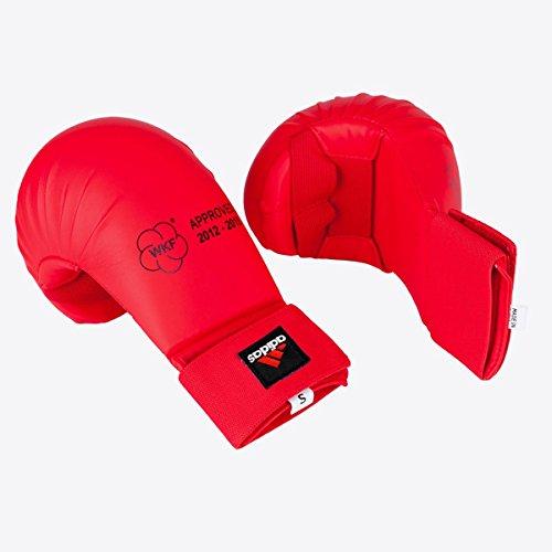 Adidas WKF Karate Handschuhe–Rot, Small