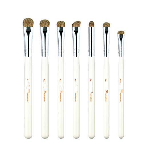 Berrd 7 Lidschatten Pinsel Set klassisches Make-up natürliches Tierhaar Lidschattenmischung Make-up...