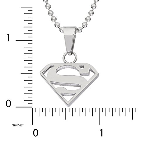 Product Image 2: DC Comics Jewelry Superman, Stainless Steel Cutout Logo Pendant, 16″ Ball Chain