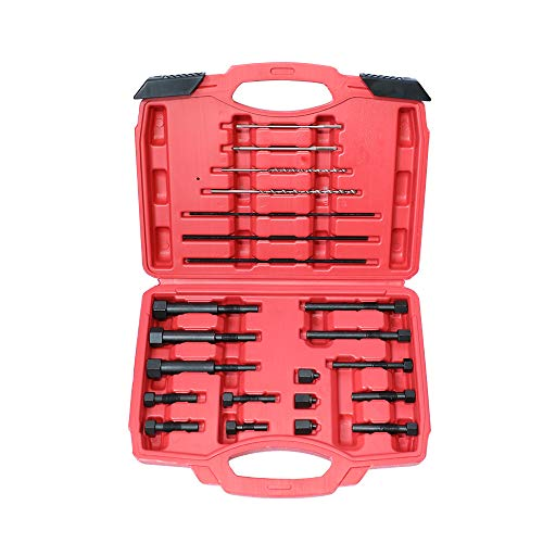 MRCARTOOL 22 Piezas de roscas de Metal antioxidantes, Perno de extracción, bujía incandescente, extracción de electrodos, Juego de Herramientas de extracción de Plugs, Kit de reparación M8 y M10