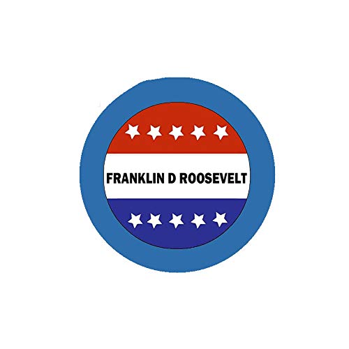 Franklin D Roosevelt Stars & Stripes Voting Style 5,7 cm Pinback für Jacken, Rucksäcke etc.
