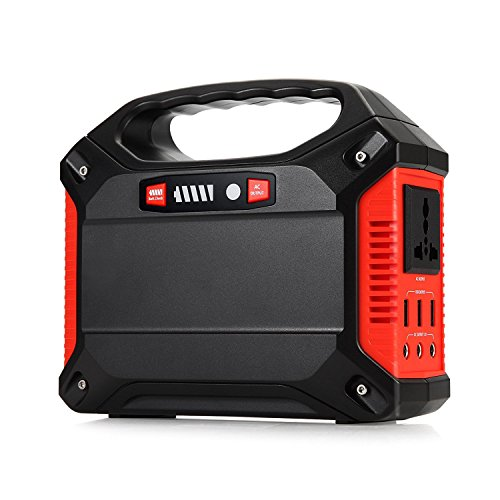 TOPQSC Portable Generator Power Inverter 42000mAh 155Wh Rechargeable Battery Pack Emergency Power Supply, 220V AC Outlet 3 DC 12V USB Port