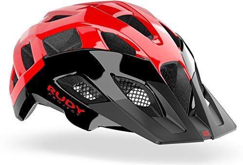 RUDY PROJECT Casco MTB Ciclismo Crossway (L, Black-Red Shiny)