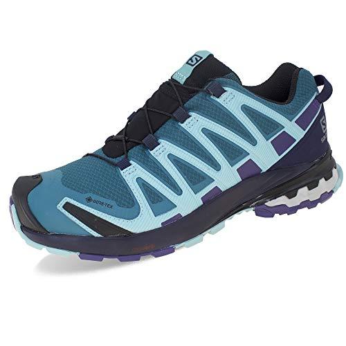 Salomon Damen XA PRO 3D v8 GTX W Trail Running Schuhe, Grün (Shaded Spruce/Evening Blue/Meadowbrook), 40 2/3 EU