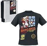 Super Mario Game Cover T-Shirt Noir XL