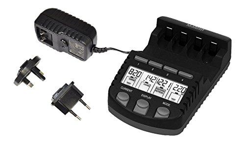 La Crosse Technology RS700 chargeur de piles avec prise UK + europe - Noir