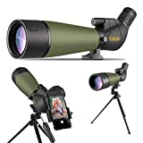 Gosky 2019 Updated 20-60x80 Spotting Scope with Tripod, Carrying...
