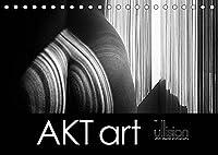 AKT art (Tischkalender 2022 DIN A5 quer): Stilvolle Aktfotografie in aesthetischer Abstraktion im Spiel aus Linien und Koerpern (Monatskalender, 14 Seiten )
