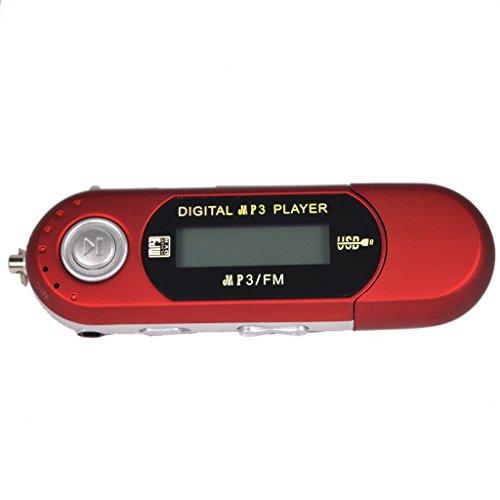 MERIGLARE 8GB USB 2.0 Flash Drive LCD Reproductor de Música MP3 con Radio FM 8G Rojo