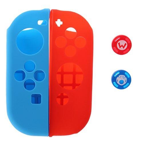 ZChun siliconen beschermende huid geval Grips Joystick cap-afdekking voor Nintendo Switch