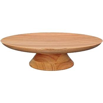 スワンソン商事 ケーキスタンド 木製 L ナチュラル 約直径30×高さ8cm フーテッドプレート アフタヌーンティー パーティー HF-005N