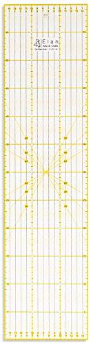 Elan Patchwork Lineal Anti Rutsch 60 cm x 15 cm, Acryl Metrische Lineal 15cm, Patchwork-lineal Non Slip, Quilt-Lineal Nähen, Schneiderlineal Quilten, Schneidelineal, Stoff Lineal, Nähzubehör