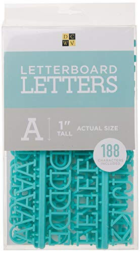 DCWVE Die Cuts with A View 1' Letter Pack Letterboard-Teal (188 pcs) LP-006-00003, 1'