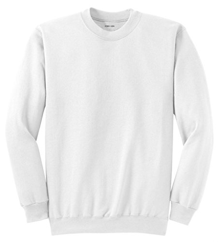 Joe's USA Youth Soft and Cozy Crewneck Sweatshirt,S-White