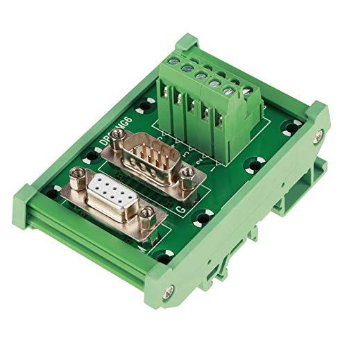Módulo de carril DIN DB9, módulo de bloques de terminales, módulo de interfaz de montaje en carril DIN DB9-MG6 Placa de conexión de conector macho/hembra