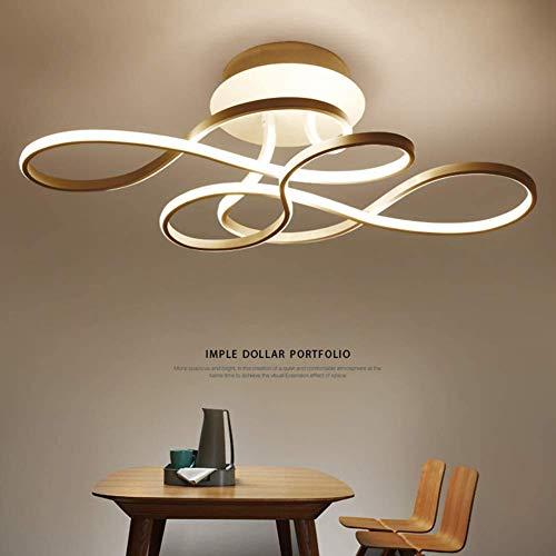 Designer LED Techo LED Dimmable 3000k-6500k con Control Remoto de Color/Brillo Luz/Brillo Acrílico Acrílico Acrílico Luz Luz Moderna Luz de Luz (Clase A ++)