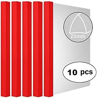 Plastic File Folder Sliding Bar Report Covers, (Sliding bar Thickness: 25mm, 200 Sheet Capacity, 20C), Transparent Resume Presentation File Folders Organizer Binder for A4 Size Paper 10 pcs Solid-red