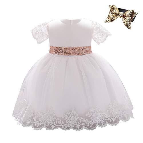 IBAKOM - Vestido para bebé o niña, de malla, manga corta con...