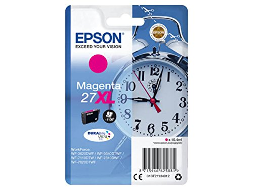 Epson Originale - Epson Workforce WF-7610 DWF (27XL / C13T27134012) - Cartuccia d'inchiostro magenta - 1.100 pagine - 10,4 ml
