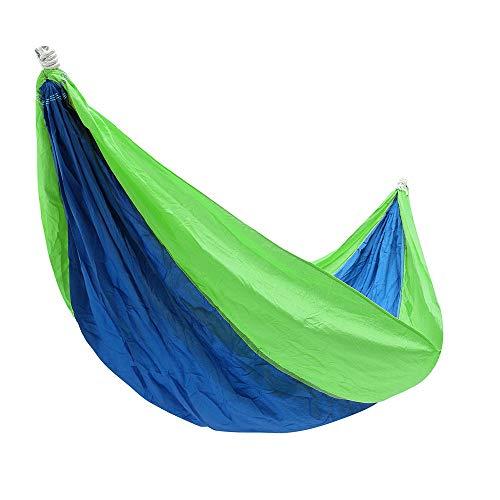 XuZeLii Hamaca De Camping Colgante al Aire Libre oscilación Que paracaídas de Nylon Doble Hammockfor el Viaje de Camping 260x145CM Adecuado para Mochileros (Color : Green, Size : 260x145CM)